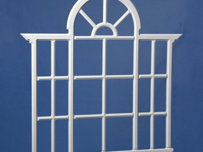 CC28 Large Palladian Window PVC Trim With Acrylic