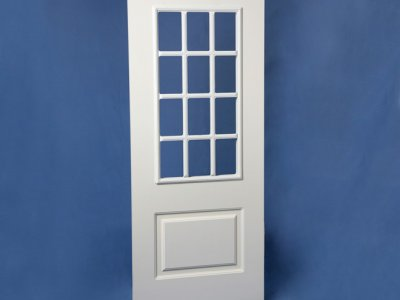 ST07 Large Window Colonial Overlay Door with Acrylic (48″)