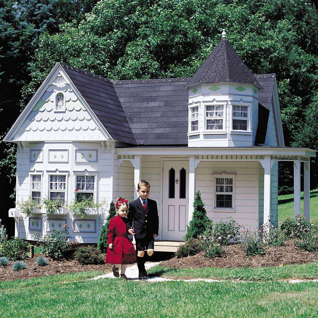 Grand Victorian Our Playhouse For Children Is An Enchanting Play Home